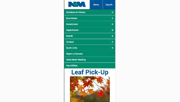 North Mankato mobile menu