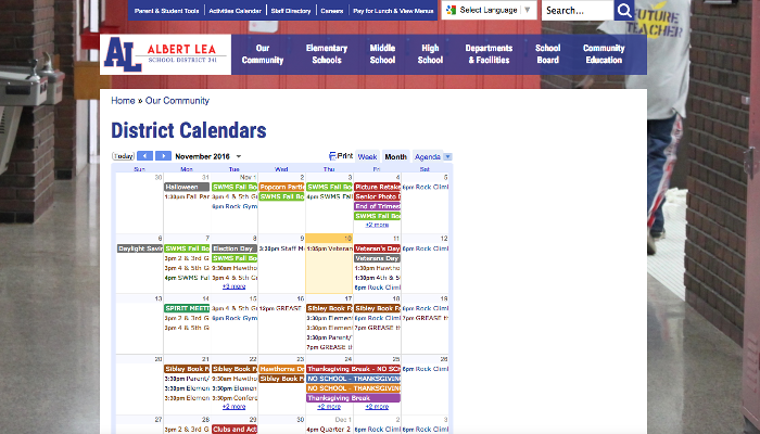 Albert Lea Calendar