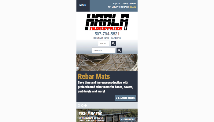 Haala mobile site